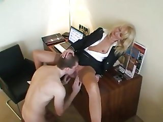 Young Skinny Student Fucks Mature Teacher To Pass an Exam