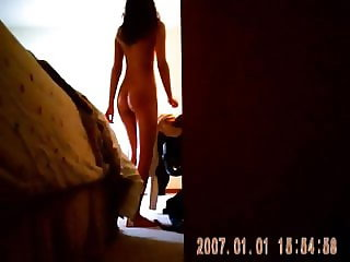 Voyeur - Sister spied in her bedroom after shower