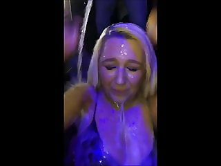 Champagne shower (34) - covered facial compilation
