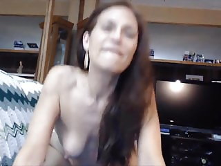 Horny petite cougar pissing in the shower