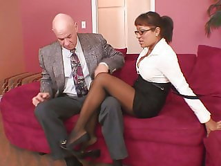 Shy Single Mom Can't Resist Her Bosses Big Dick