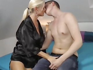 Young Lucky Boy Trying To Fuck His First MILF After Job