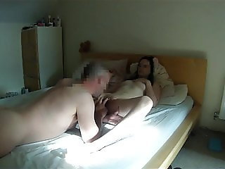 Homemade Licking out my wife's gorgeous bald pussy to orgasm