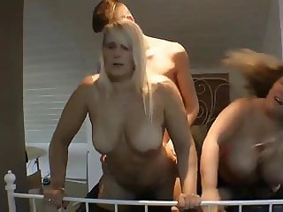 Young Boy with Big Dick Fucks Busty BBW and Naughty MILF