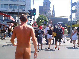 naked guy at street in broad daylight