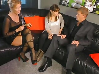 Shameless MILF Watching  Young Couple Fuck on Couch