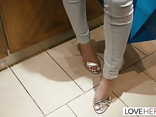 LoveHerFeet - The Gorgeous Girl Next Door With Perfect Feet