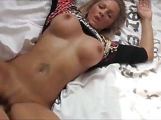 Fantastic & Busty MILF Receives Messy Creampie On New Bed