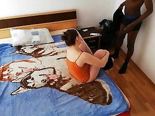 Cristina sucks black dick