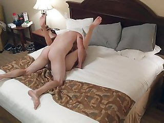 Hot blonde girl having fun with her boy friend
