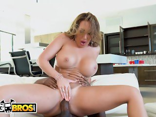 BANGBROS - Stepmom Richelle Ryan Punishes Her Young Black Step Son Xavier