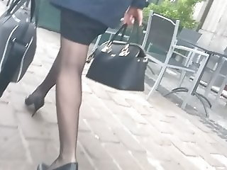 Sexy heels legs and pantyhose