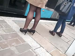Sexy heels and pantyhose