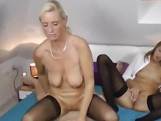 Lucky Dude Fucks His Young WIfe and Then Divorced MILF