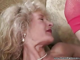 Pierced Dutch Granny Fuck From Holland