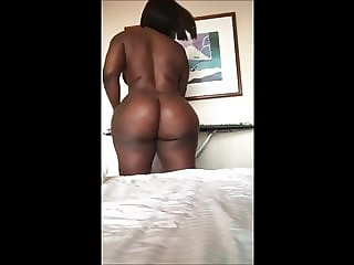 THICK CHOCOLATE MODEL GIVING HER FANS A 'TREAT'