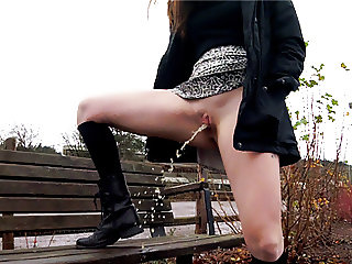 Public upskirts, walking, and squirting pee PREVIEW