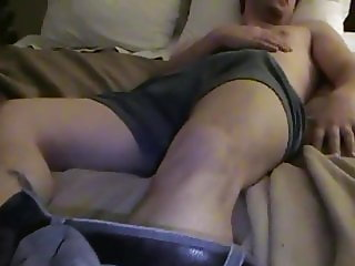 Rod spunkel and gay guy jerk his huge dick