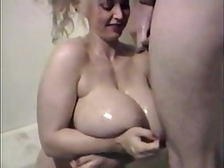 Chessie Moore piss on her huge tits