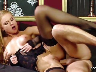 Skinny Stockings Teen Meg Laren in Rough Anal Fuck Scene