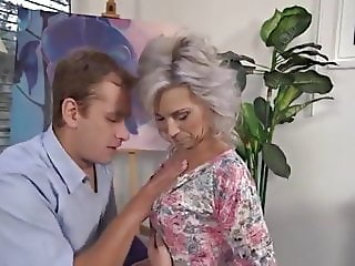 Hot MILF enjoys a young cock