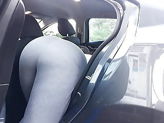 Huge donk doggystyle bbw tease car wash candid flexing.