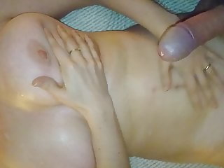 she wants big cumshot all over her tits and body