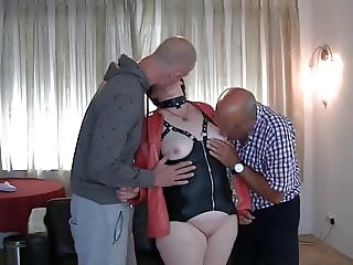 Horny dutch cumslut milf is used by 6 friends in gangbang