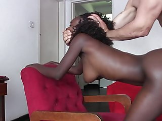 Ebony Amateur Goes for Job Interview, Gets Fucked Instead