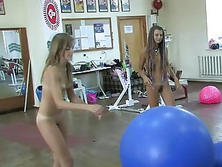 Russian or Ukrainian nude girls exercise  part 3