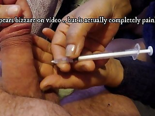 Alprostadil penis injection by wife & Cum