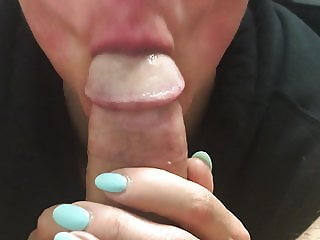 Val likes a ball suck on big cock