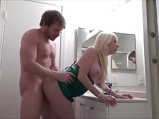 busty cougar milf seduces and fucks her young roommate guy