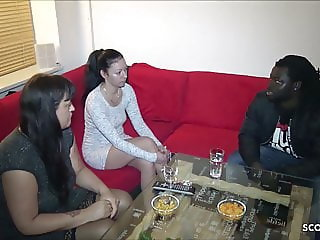 HORNY MILF WATCH HER BEST FRIEND FUCK HUGE BLACK COCK GERMAN