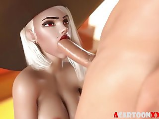 Overwatch sluts fucked in the mouth and pussy