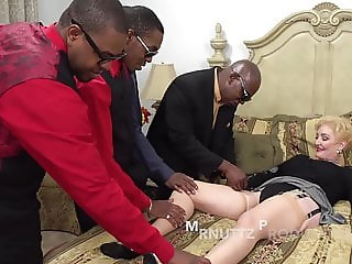 Blonde Gilf Loves Black Cock Orgy.