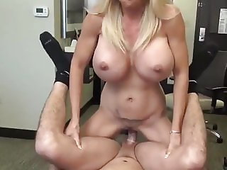 busty milf with hot body likes her new young roommate boy