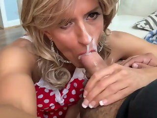 Glamgurlxoxo's cum play with messy facial