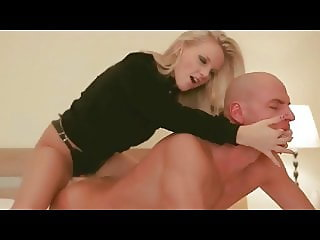 Strapon hotel fucking of a beautiful couple