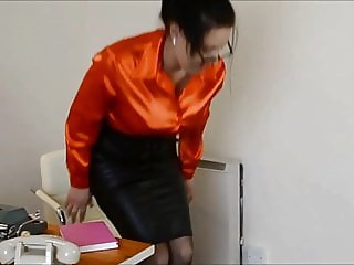 Nice Lady in Satin Blouses and Tight Skirts