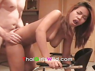 big cock white guy fucks big boob asian girl