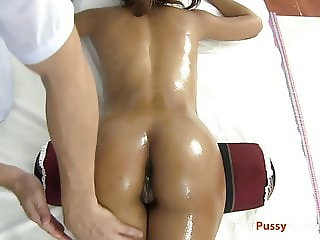 Perfect ass on Asian oil massage