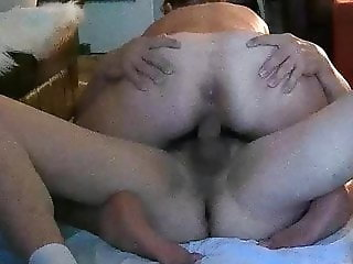 Fat ass Wife rides cock