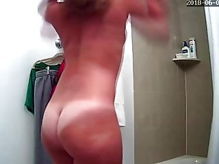 Small Tits Blonde Before Shower - Hidden Cam Clip