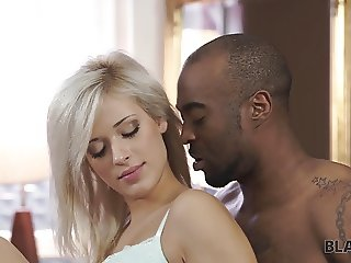 BLACK4K. Huge dick of virgin black friend is used by nice