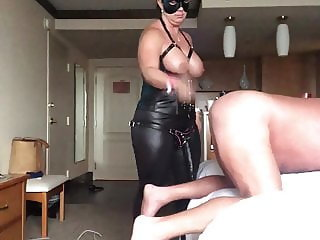 Wife dominates me strapon and spanking
