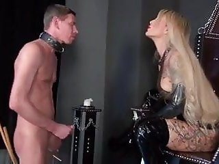 Boot slave humiliated and forced to wank (Preview)