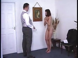 Severe master punishes Niki who did not obey to him correctl