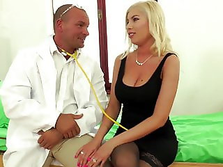Black Stockings DONNA BELL Visit The Doctor...
