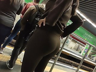 Big ass milf in brown pants